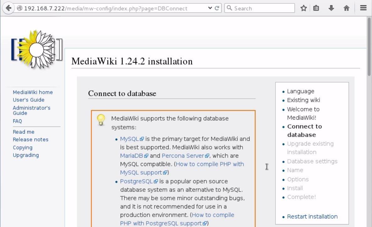 install-Mediawiki-Centos7-wiki-application-connect-Mediawiki-to-database