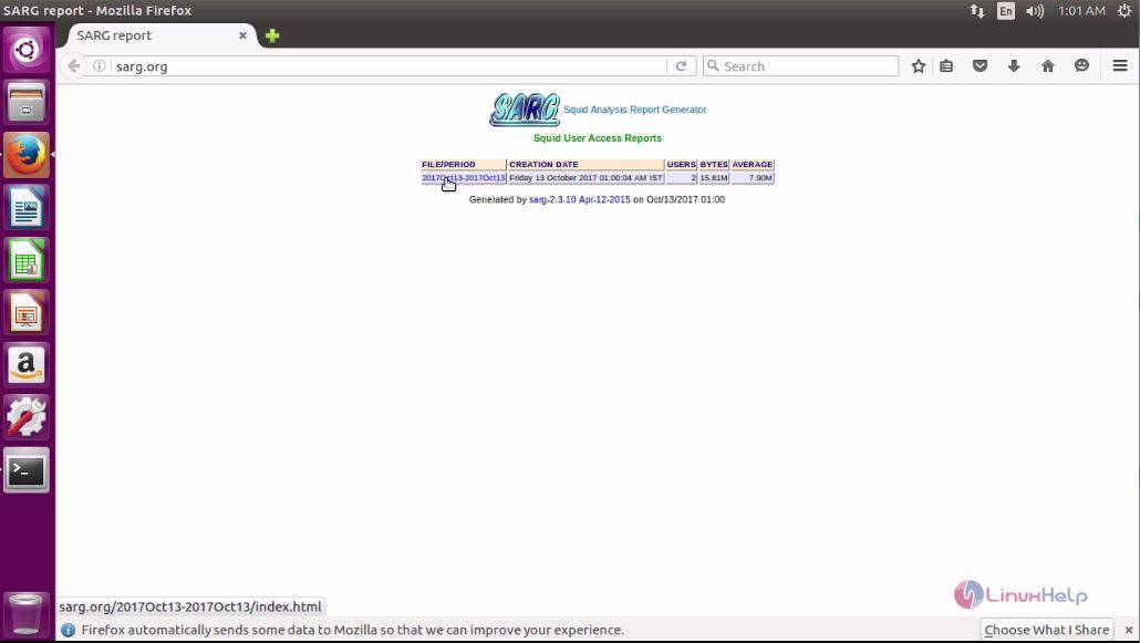 How to install SARG on Ubuntu 16 04 | LinuxHelp Tutorials