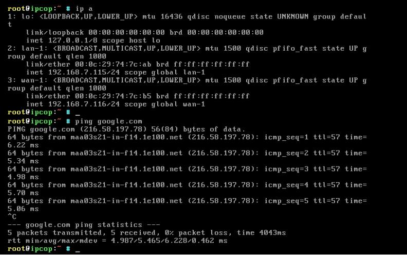 Installation-IPCop-manages-firewall-appliance-Linux-net-filter-framework-ip-a-ping