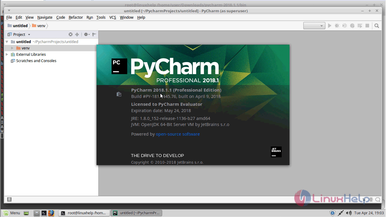 How to install Pycharm 2018 1 on Linuxmint 18 3 | LinuxHelp