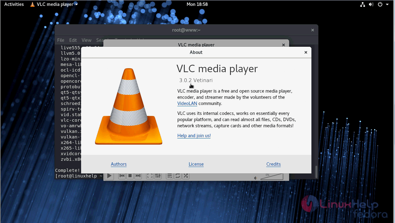 How to Install VLC Media Player V3 0 2 on fedora-28