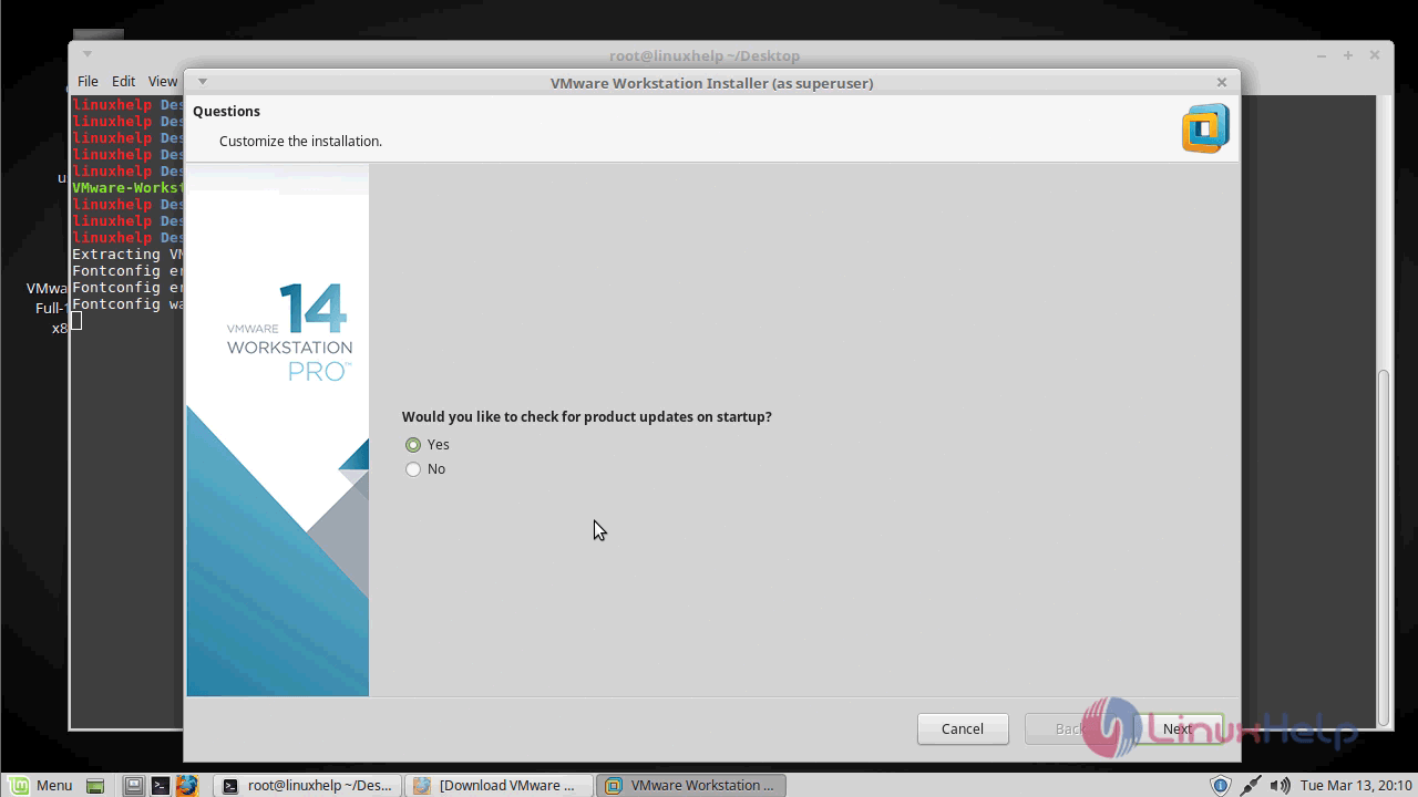 How to install VMware workstation pro 14 on linuxmint 18 3