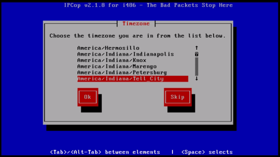 Installation-IPCop-manages-firewall-appliance-Linux-net-filter-framework-time-zone