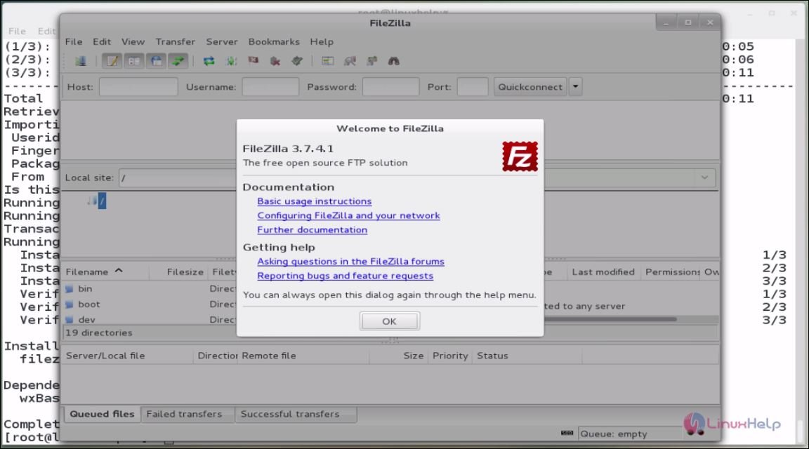 How to install, configure and access FTP server via filezilla in