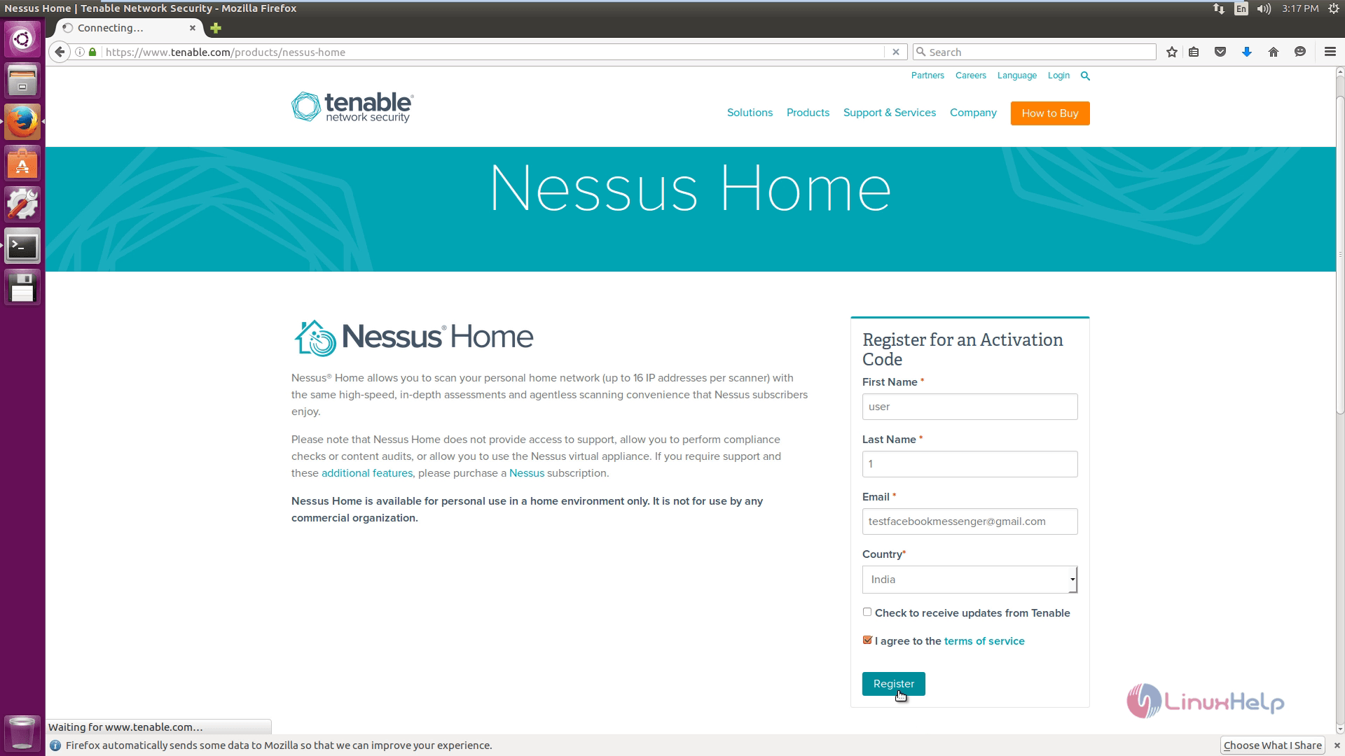 How to install and configure Nessus Vulnerability in Ubuntu