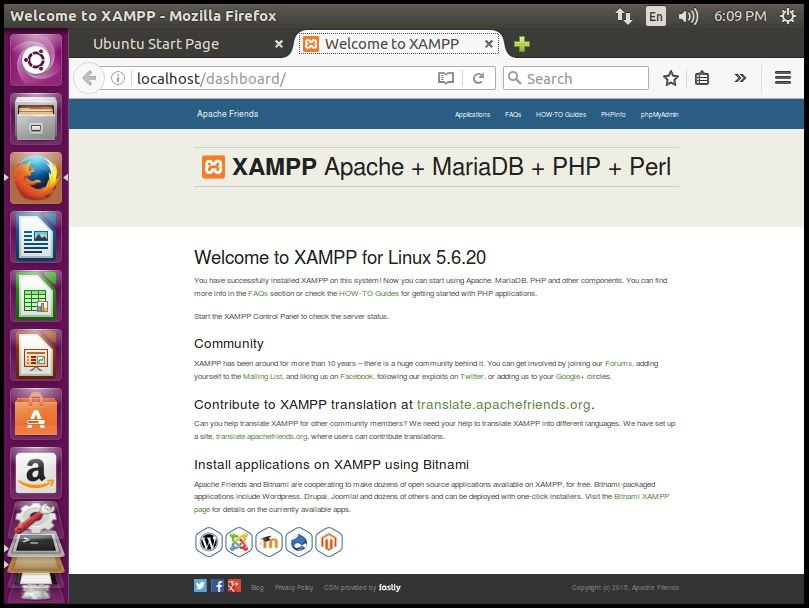 Installation-XAMPP-Stack-PHP-Apache-web-server-MySQL-database-Perl-famework-installs-Apache-environment-Ubuntu-xampp-dashboard