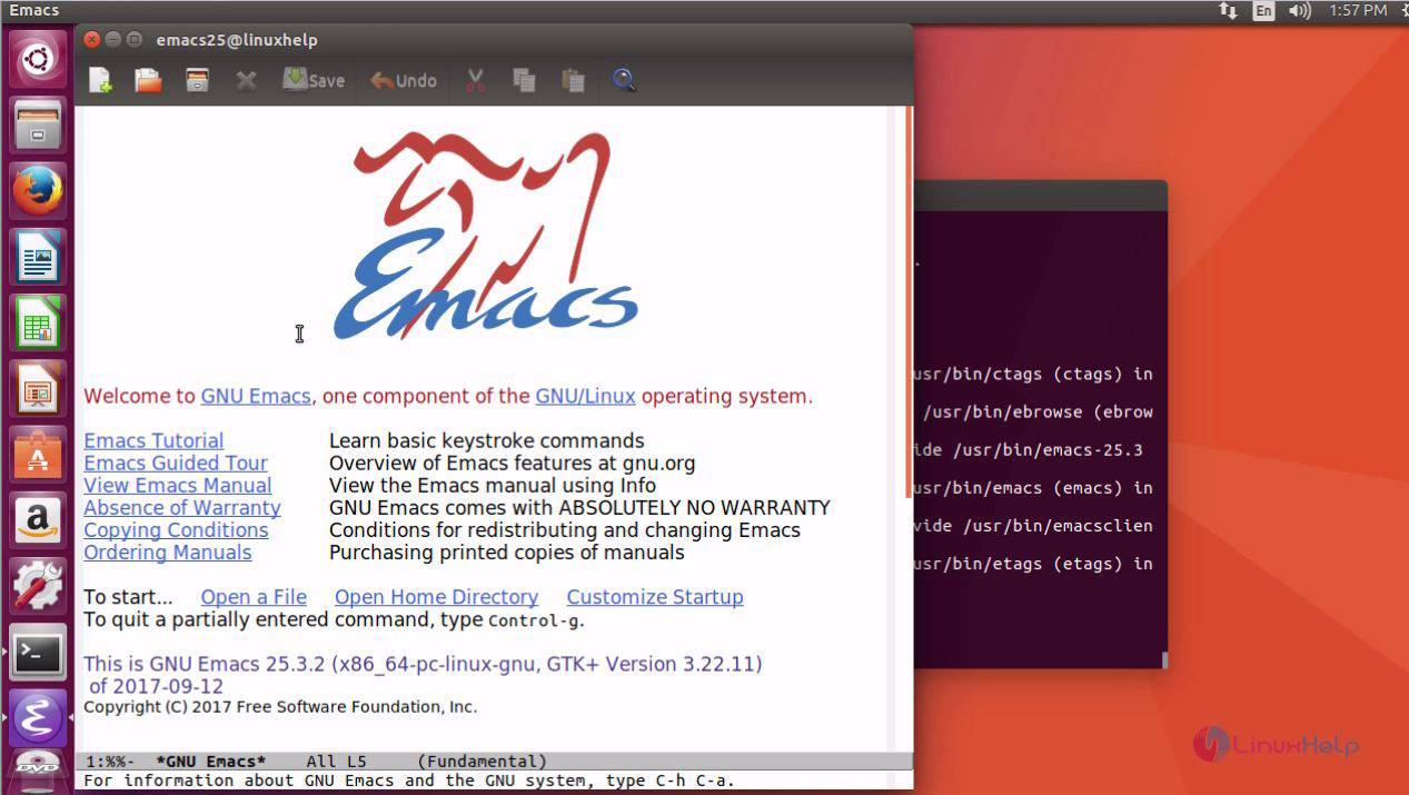 emacs install linux command