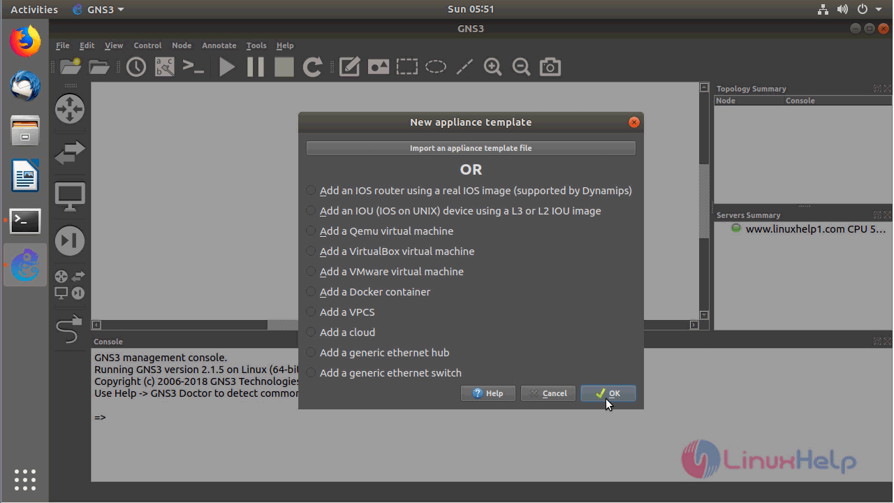 How to install GNS3 -2 1 5 on Ubuntu – 18 04 | LinuxHelp Tutorials