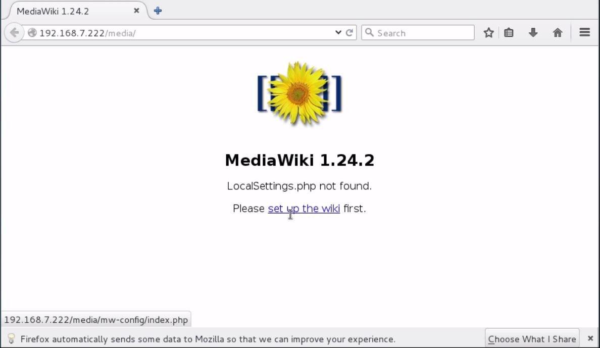 install-Mediawiki-Centos7-wiki-application-Set-up-the-wiki