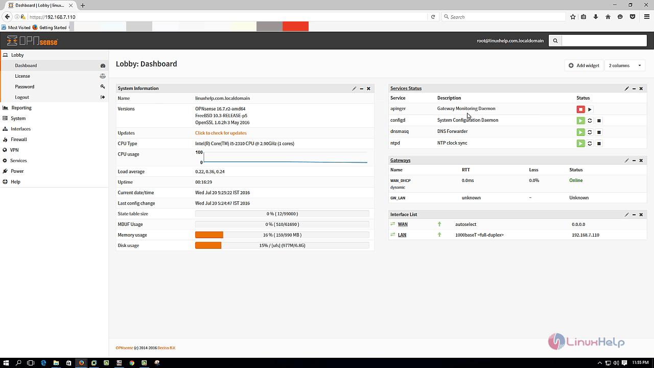 How to install OPNSense | LinuxHelp Tutorials