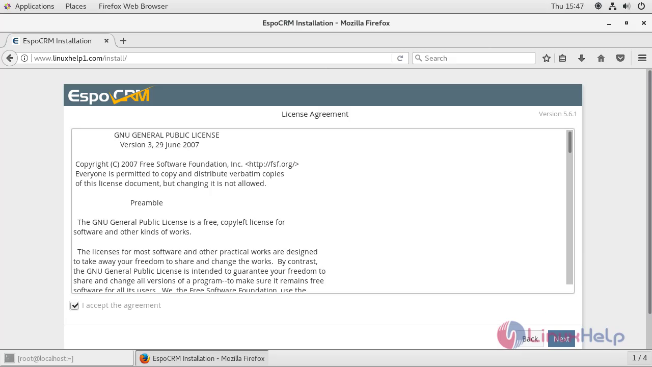 How to Install Espo CRM 5 6 1 on CentOS 7 5 | LinuxHelp
