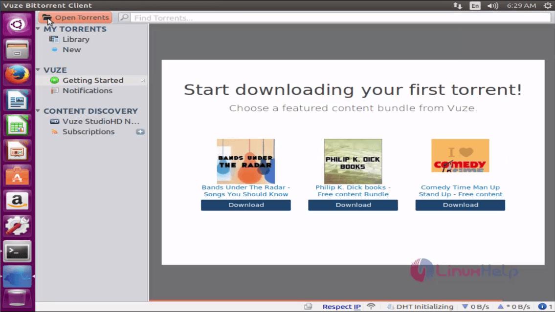 How to Install Vuze BitTorrent Client 5 7 4 in Ubuntu 16 04