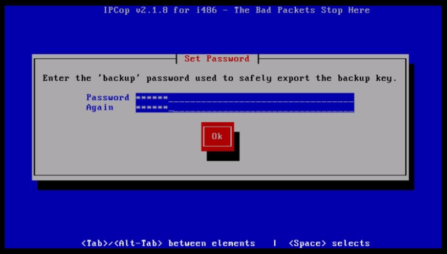 Installation-IPCop-manages-firewall-appliance-Linux-net-filter-framework-password-backup