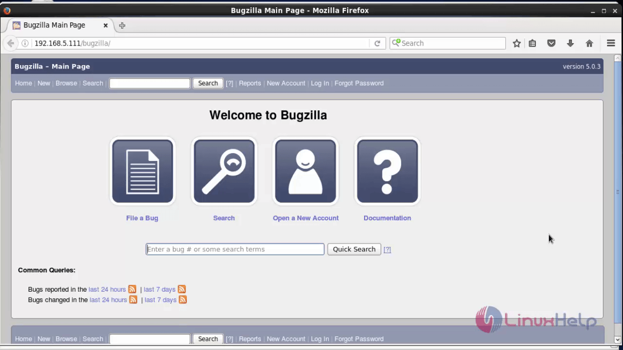 Install-Bugzilla4.4-web-based-bug-tracker-tool-log-and-track-fault-in-databases-CentOS-open-web-browser