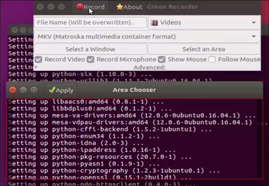 How to install Green Screen Recorder on Ubuntu 16 04 | LinuxHelp