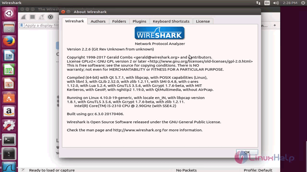 How to install Wireshark on Ubuntu 17 04 | LinuxHelp Tutorials