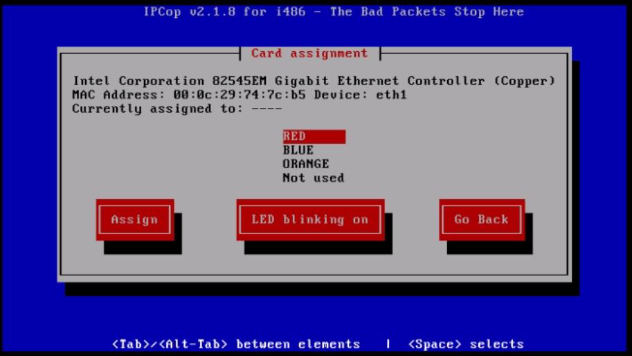 Installation-IPCop-manages-firewall-appliance-Linux-net-filter-framework-Choose-interface-type-RED