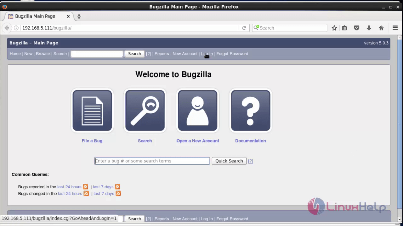 Install-Bugzilla4.4-web-based-bug-tracker-tool-log-and-track-fault-in-databases-CentOS-Login