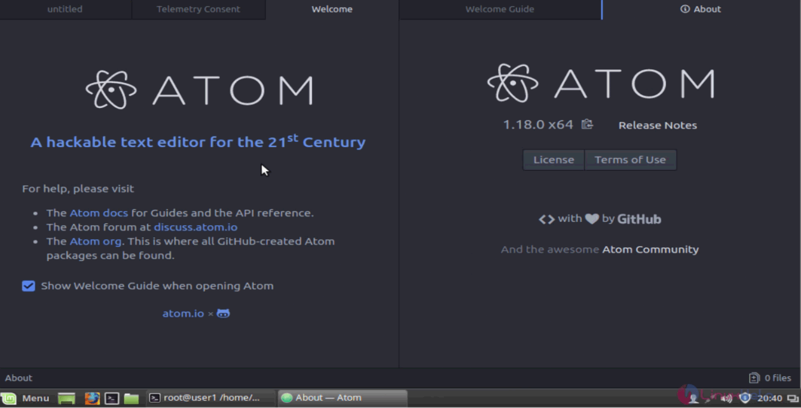 How to install Atom 1 18 on Linux Mint | LinuxHelp Tutorials