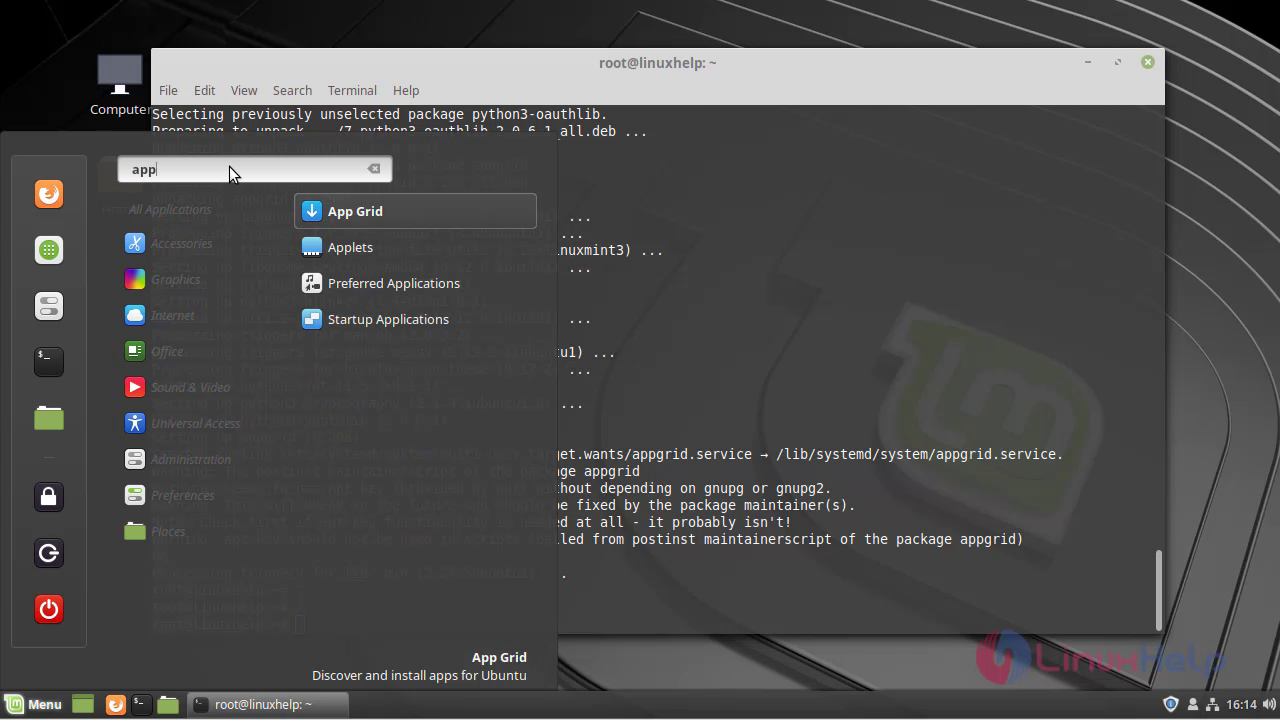 How to Install Appgrid Software on Linuxmint 19 | LinuxHelp Tutorials
