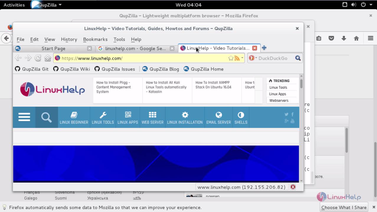 How to Install Qupzilla in Debian | LinuxHelp Tutorials