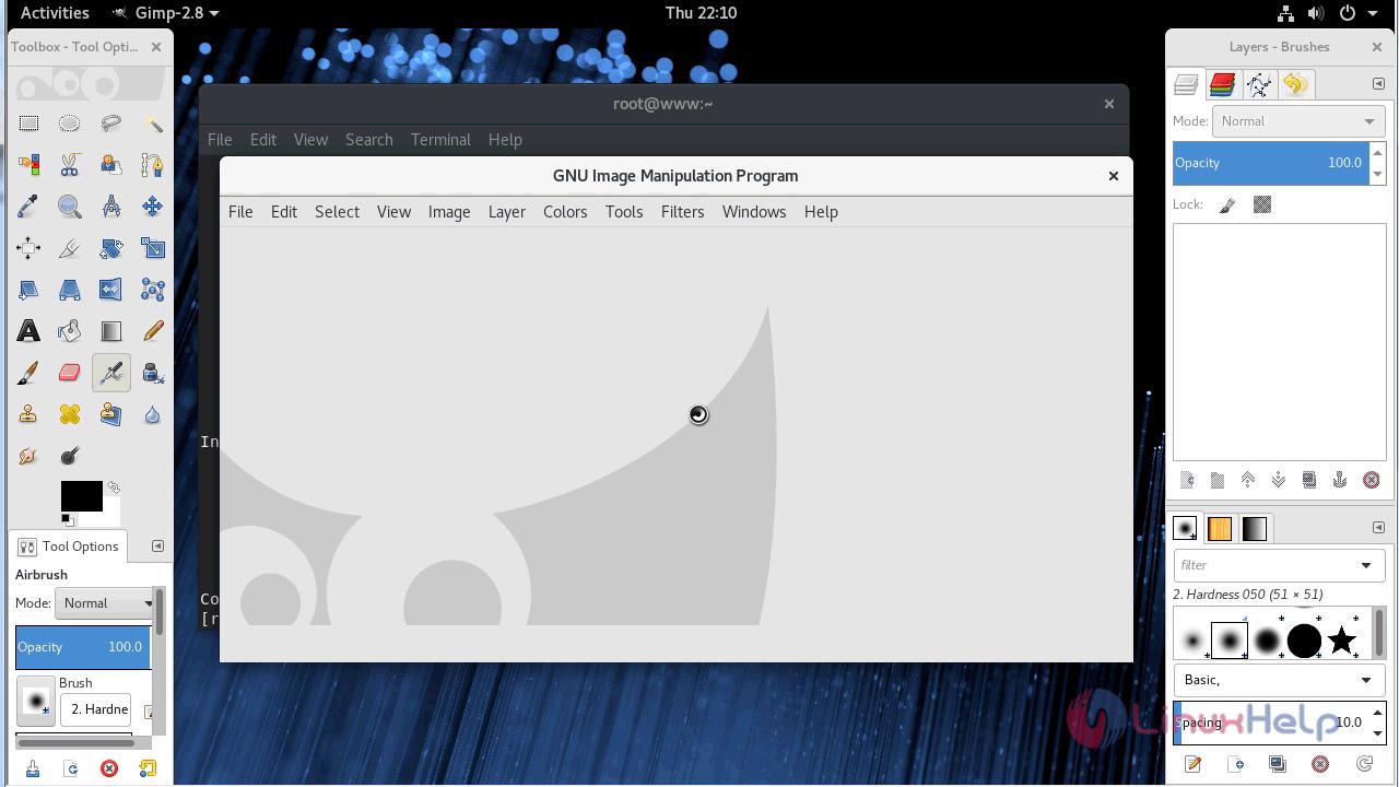 How to install GIMP 2 8 22 on Fedora-28 | LinuxHelp Tutorials