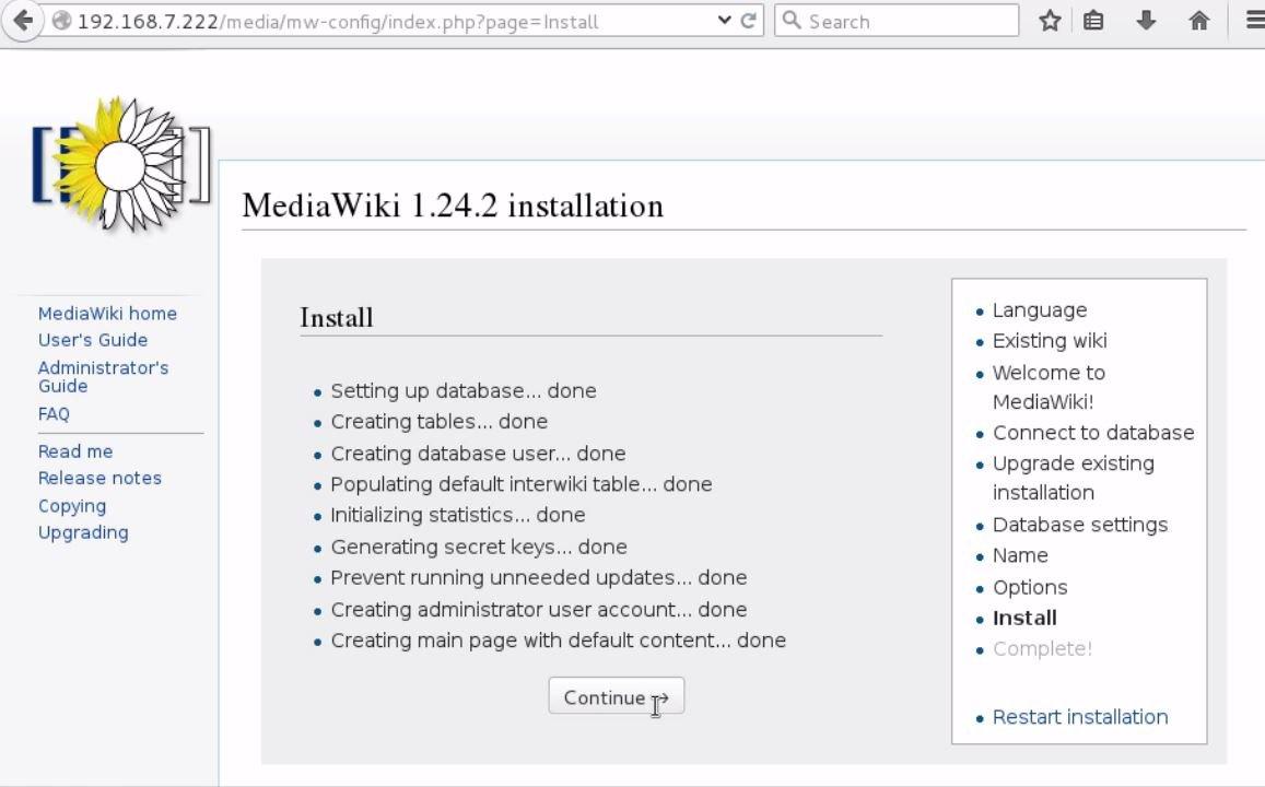 install-Mediawiki-Centos7-wiki-application-installation