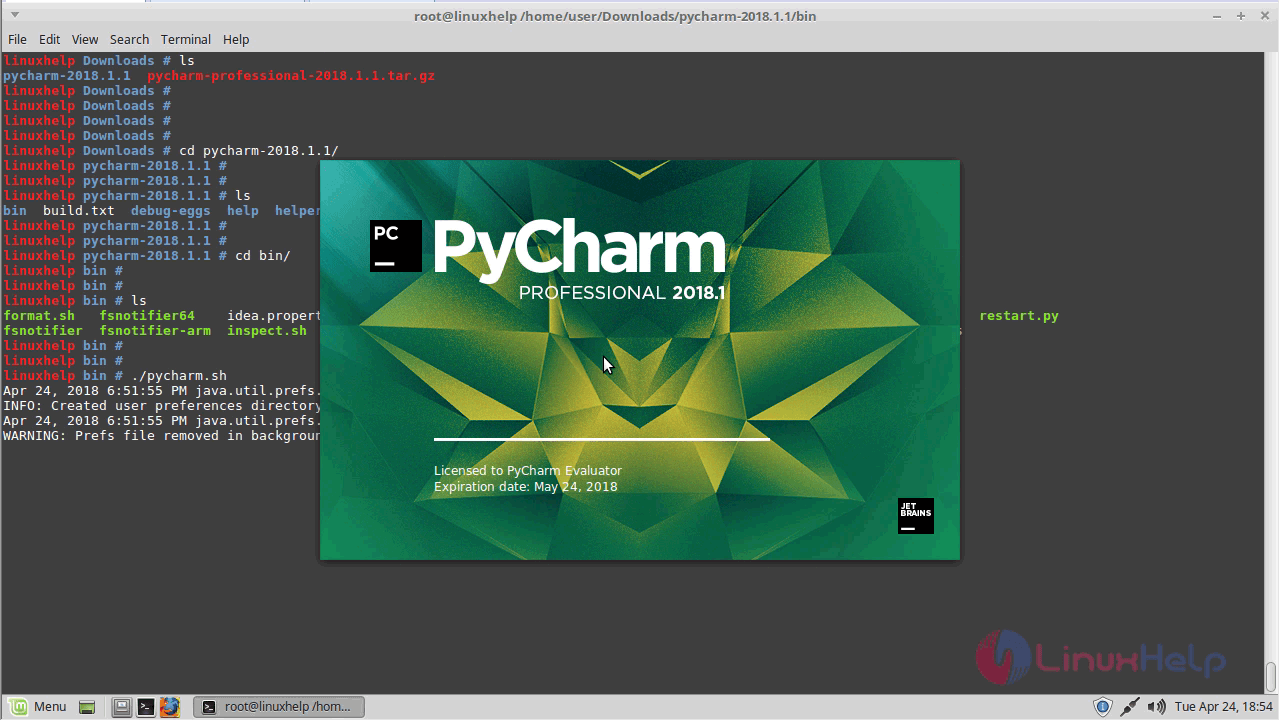 How to install Pycharm – 2018 1 on Linux Mint – 18 3