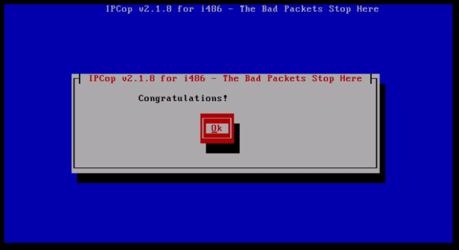 Installation-IPCop-manages-firewall-appliance-Linux-net-filter-framework-configuration-completed