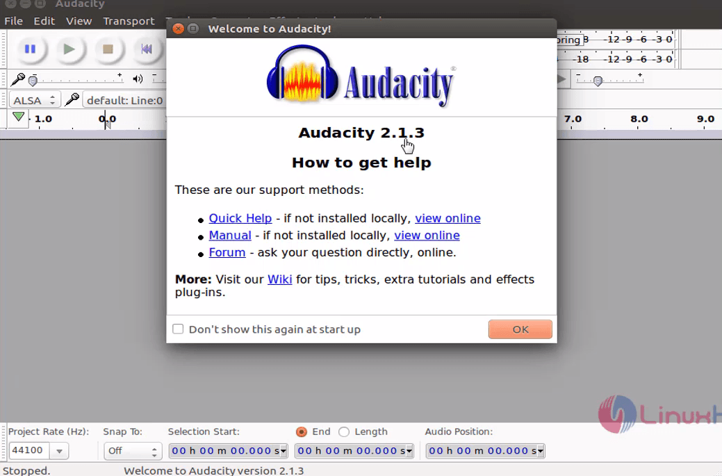 How to install Audacity 2 1 3 on Ubuntu 16 04 | LinuxHelp