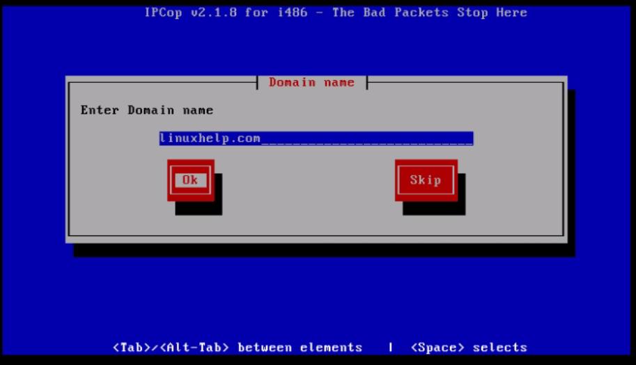 Installation-IPCop-manages-firewall-appliance-Linux-net-filter-framework-Set-domain-name
