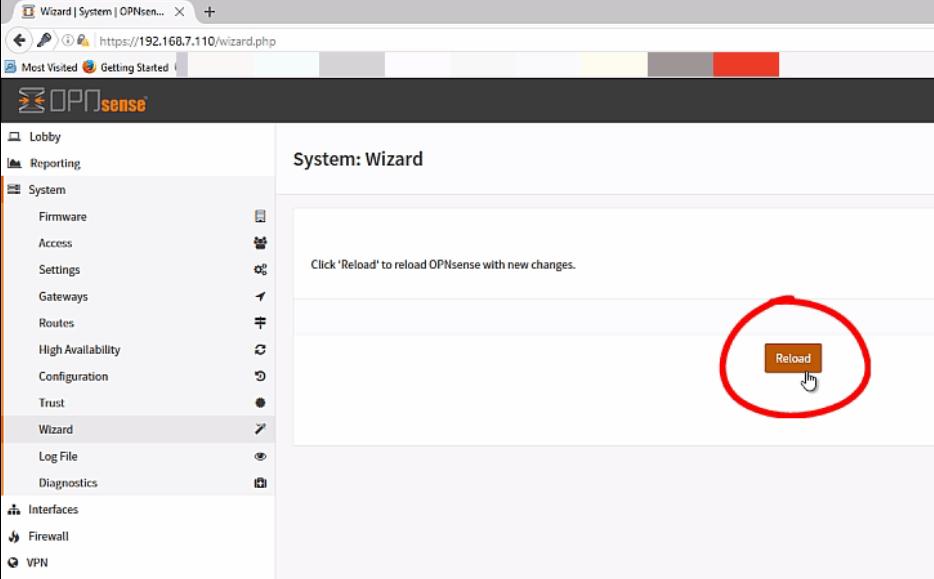 Installation-OPNsense-firewall-routing-platform-Linux-Reload