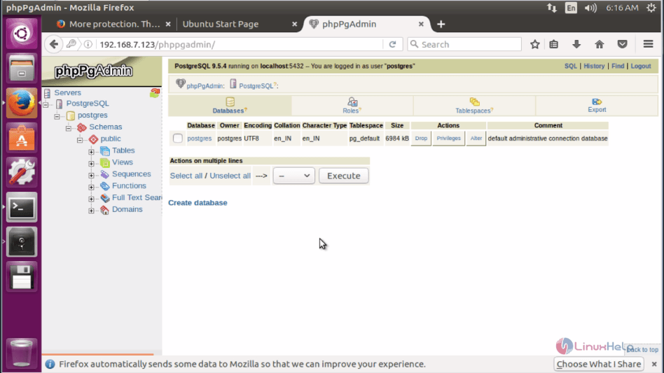 How to Install PostgreSQL and phpPgAdmin in Ubuntu