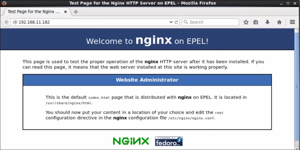 installation-LEMP-CentOS-check-Nginx
