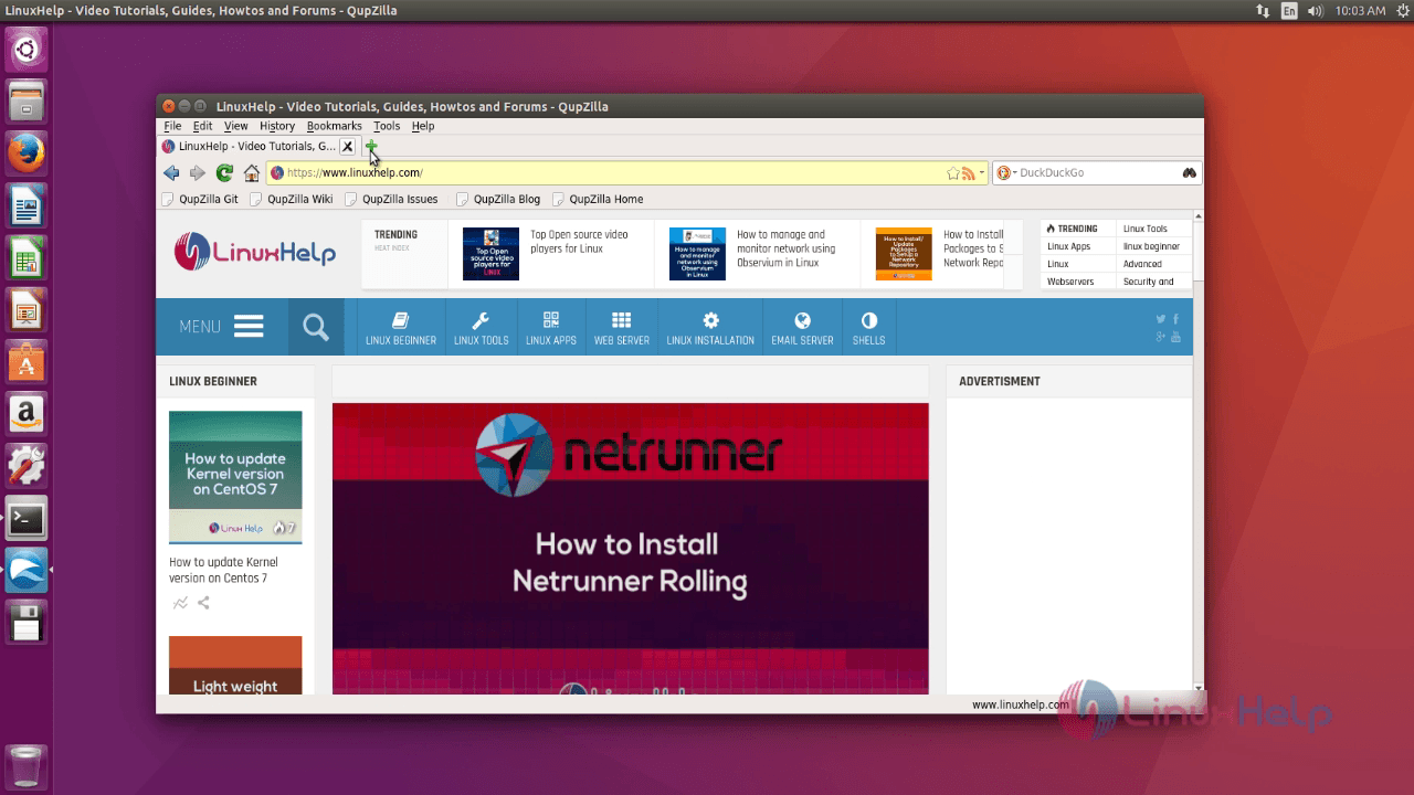 How to install Qupzilla in Ubuntu 16 04 | LinuxHelp Tutorials