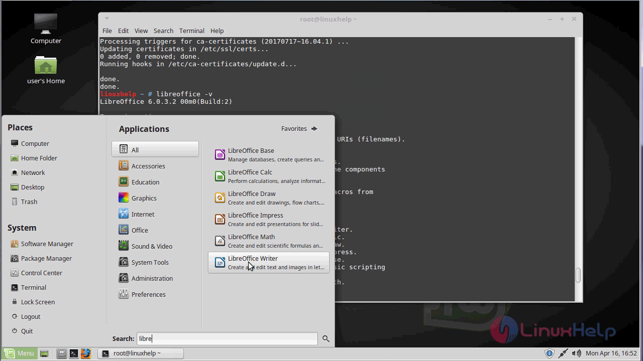 How to install Libreoffice-6 0 on LinuxMint 18 03 | LinuxHelp Tutorials