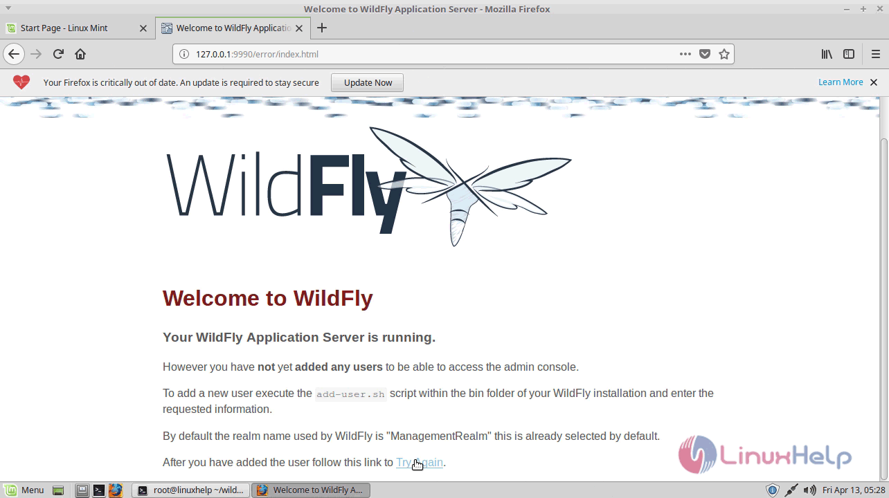 How to install wildfly 12 0 0 on Linux Mint 18 3 | LinuxHelp Tutorials
