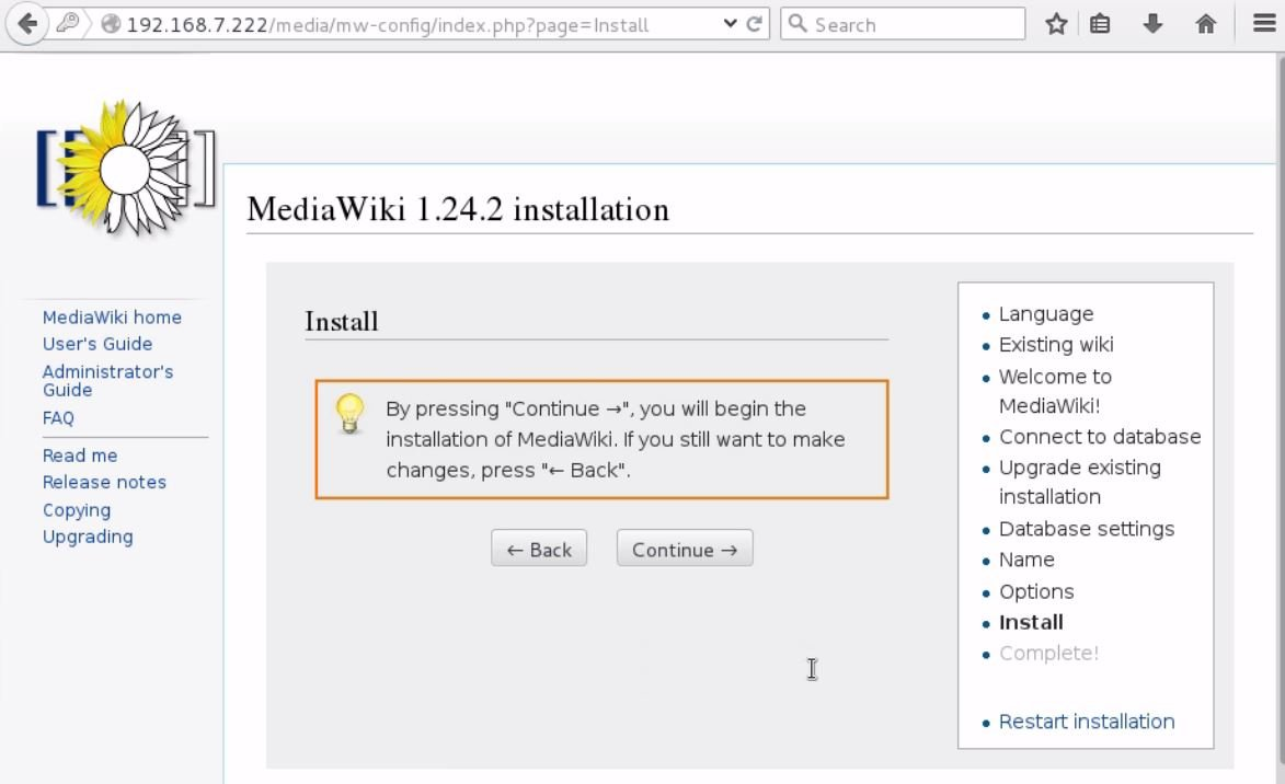 install-Mediawiki-Centos7-wiki-application-continue