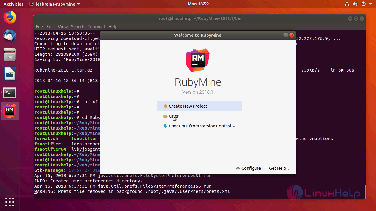 How to install rubymine 2018 1 on ubuntu 18 04 | LinuxHelp Tutorials