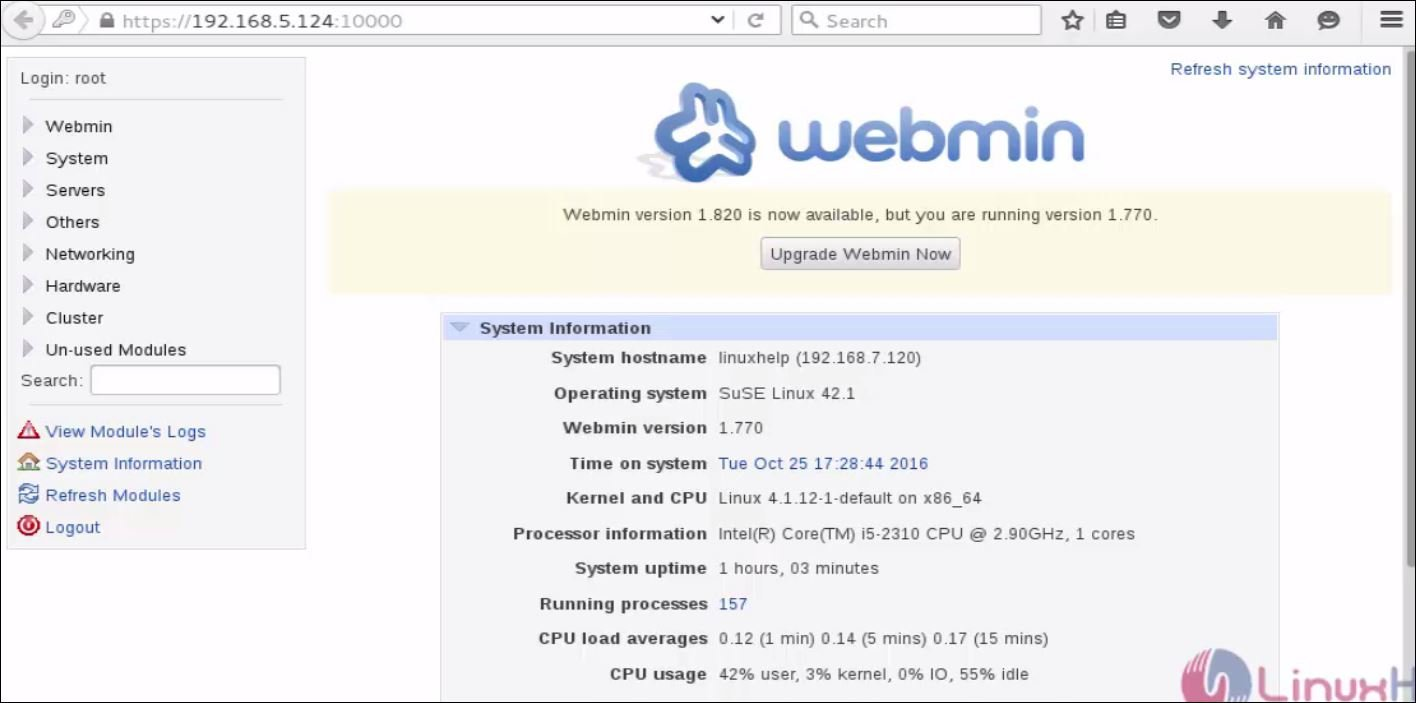 How to install Webmin in OpenSUSE | LinuxHelp Tutorials