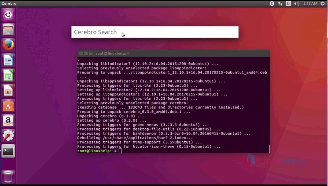 How to install Cerebro Search on Ubuntu 17 04 | LinuxHelp Tutorials