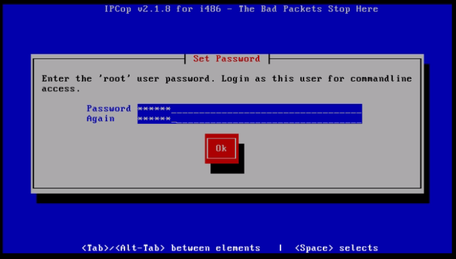 Installation-IPCop-manages-firewall-appliance-Linux-net-filter-framework-root-password