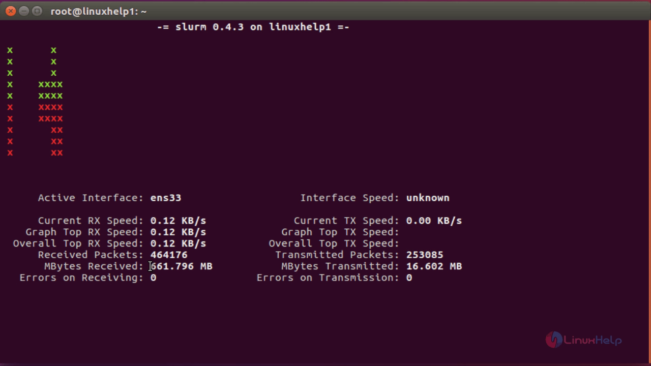 How To Monitor Network Load in Ubuntu With slurm Tool