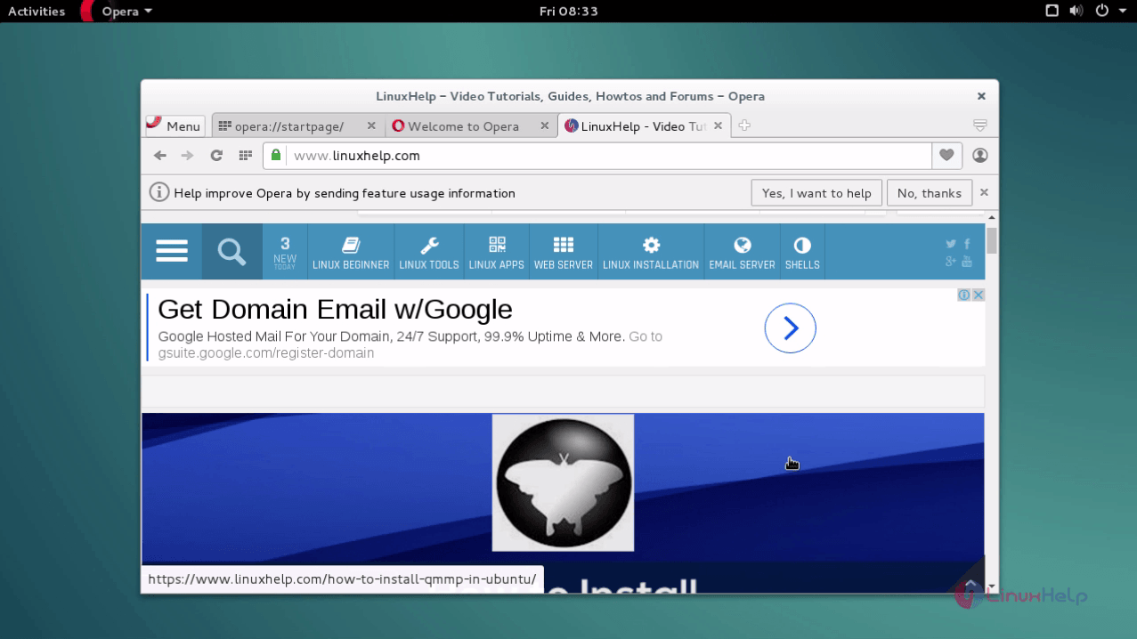 How to Install Opera Browser in Debian | LinuxHelp Tutorials