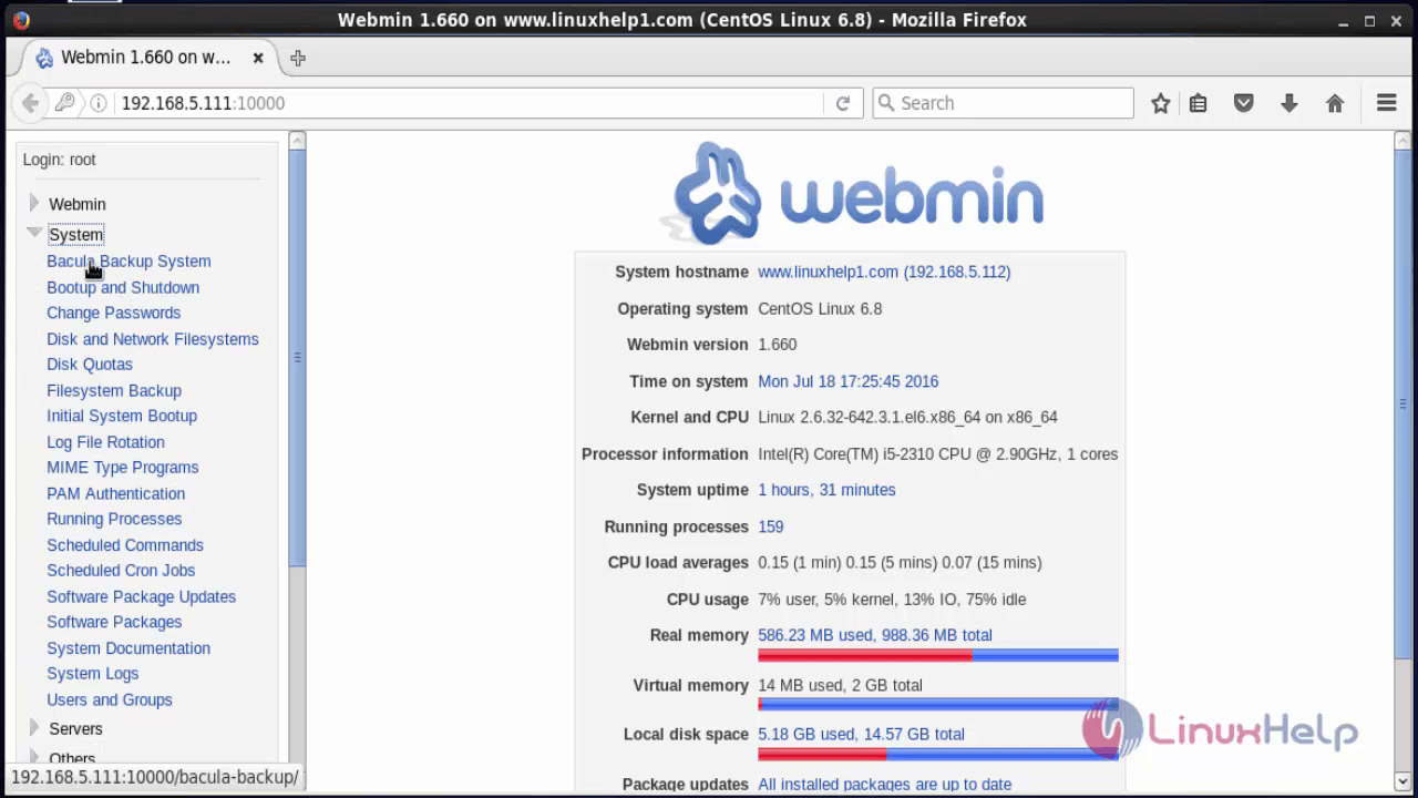 How to Setup Backup Server Using Bacula And Webmin in CentOS
