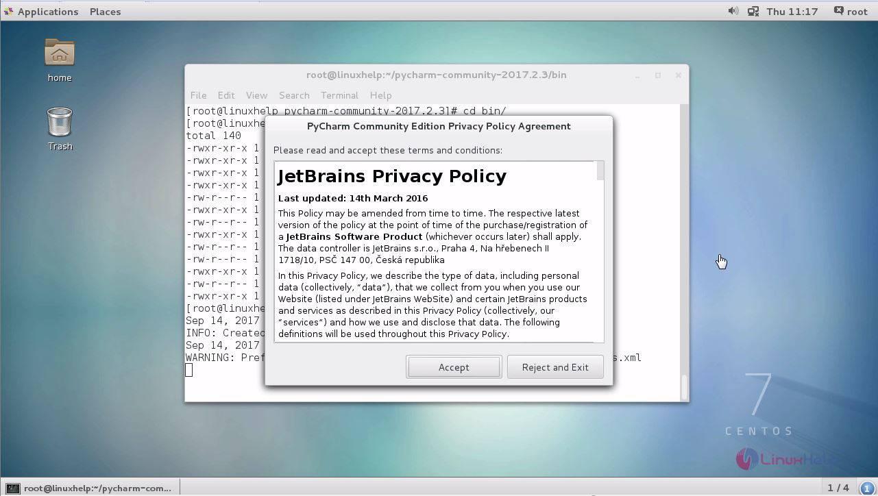 How to install PyCharm 2 3 on CentOS 7 | LinuxHelp Tutorials