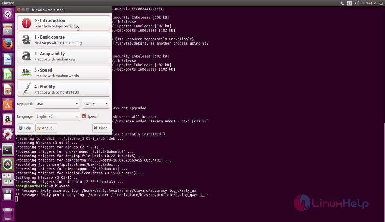 klavaro for ubuntu