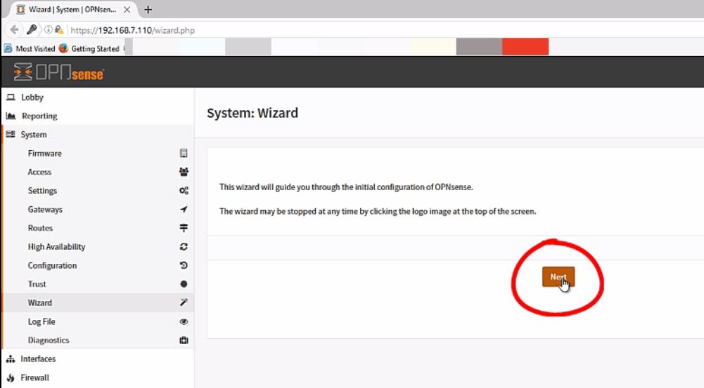 Installation-OPNsense-firewall-routing-platform-Linux-System-wizard