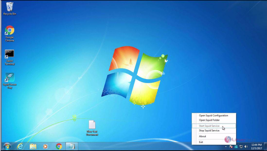 How To configure squid in windows 7 | LinuxHelp Tutorials