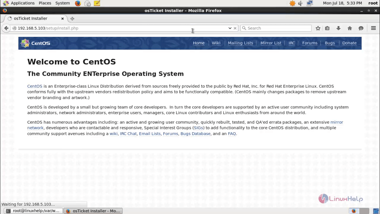 How to install OSticket in CentOS   LinuxHelp Tutorials